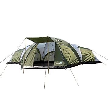 Peaktop 3000mm Waterproof 8 Person 3 Room Berth Hiking Dome C&ing Tent Blue / Grey 1  sc 1 st  Amazon UK & Peaktop 3000mm Waterproof 8 Person 3 Room Berth Hiking Dome ...