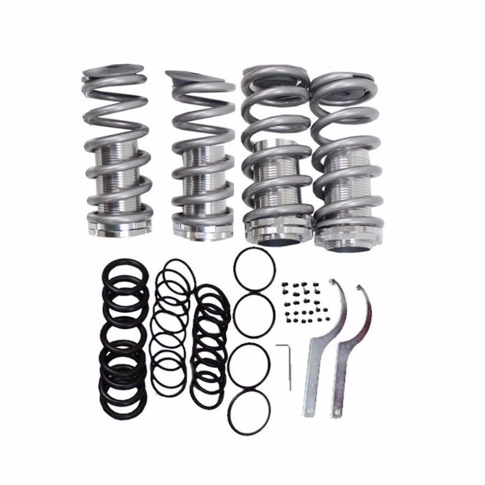 Front Rear Suspension Coilover Lowering Spring Sleeve Kit for Honda 88-00 Civic Gray