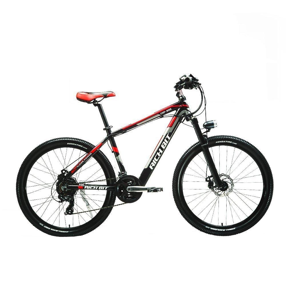 2018年モデル 26インチ 電動アシスト自転車 専用充電器付 男女兼用 (レッド) B079BL2VRJ