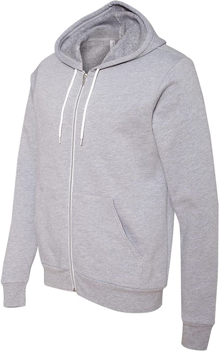 Canvas unisex Poly-Cotton Fleece Full-Zip Hoodie Bella 3739