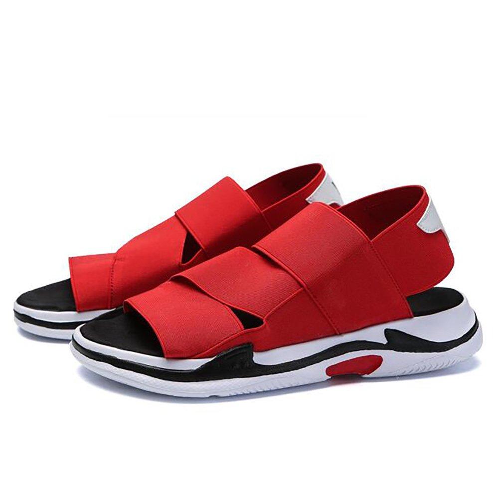 ZJM-sandalia casual sandalias de verano sandalias al aire libre Deporte sandalias elásticas hombre/estudiantes/niño negro (39-44 tallas) (Color : Rojo, Tamaño : 41) 41|Rojo