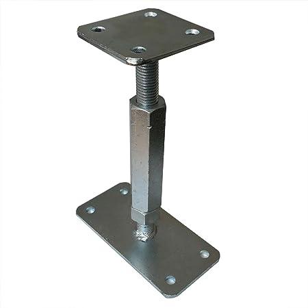 Soporte postes P, regulable 160-220 mm, 80x80 mm: Amazon.es: Bricolaje y herramientas