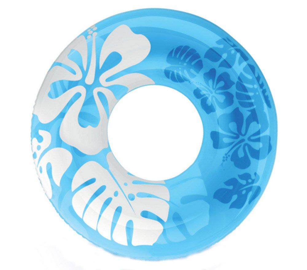KM-Storage Bag 90cm couleur claire Flotteurs gonflable donut Bouée d'été piscine jouets eau gonflables Flotteurs jouets de natation Float Pour adultes, Bleu
