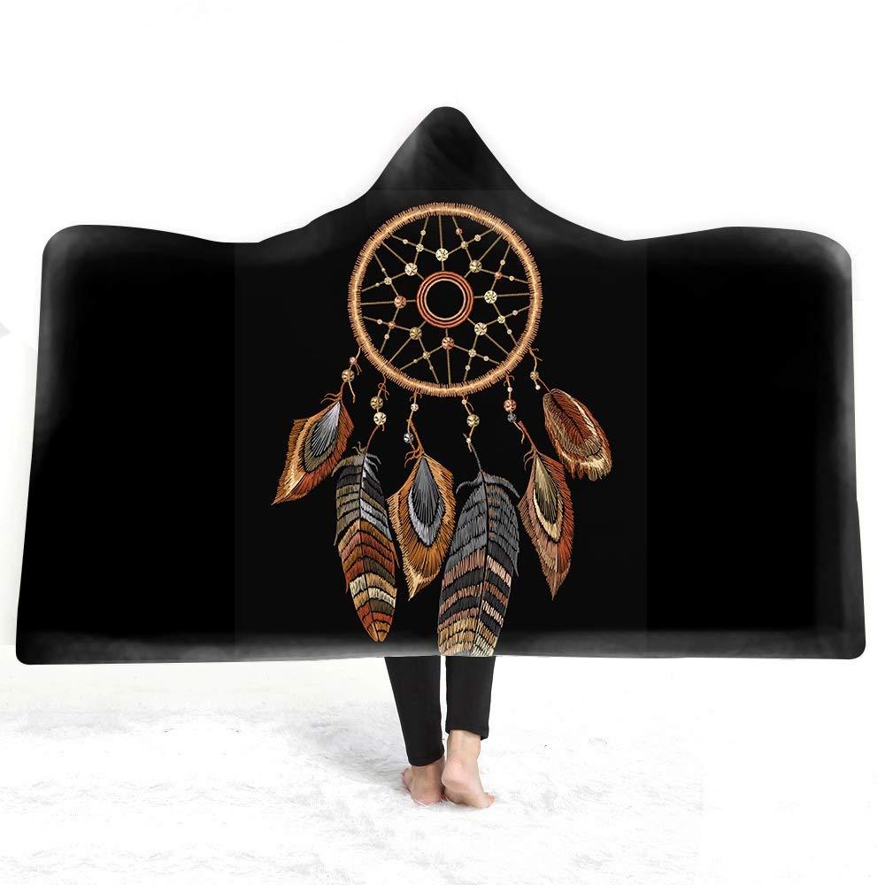 150cm Sconosciuto Coperta con Cappuccio Magic Carpet Mantello con Cappuccio Raddled Hat Grownup Bambini Coperta Doppio Peluche LINABIND 4 130