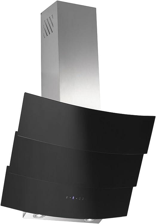 Dunstabzugshaube Kopffreihaube Saturn 90 cm Edelstahl//Schwarzglas Abzugshaube