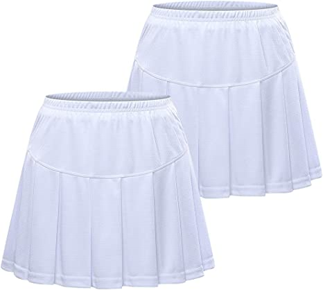 TopTie - Falda de Tenis con pantalón Corto para niña Grande (2 ...