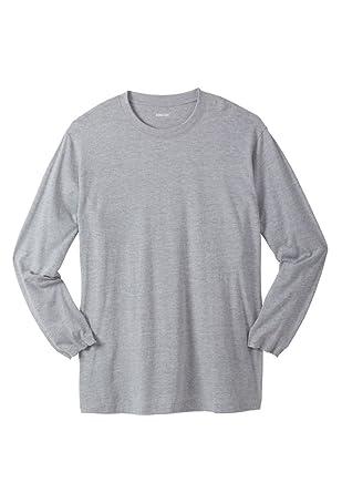 ea29d307a83 KingSize Men s Big   Tall Lightweight Long-Sleeve Tee Shirt with Pocket