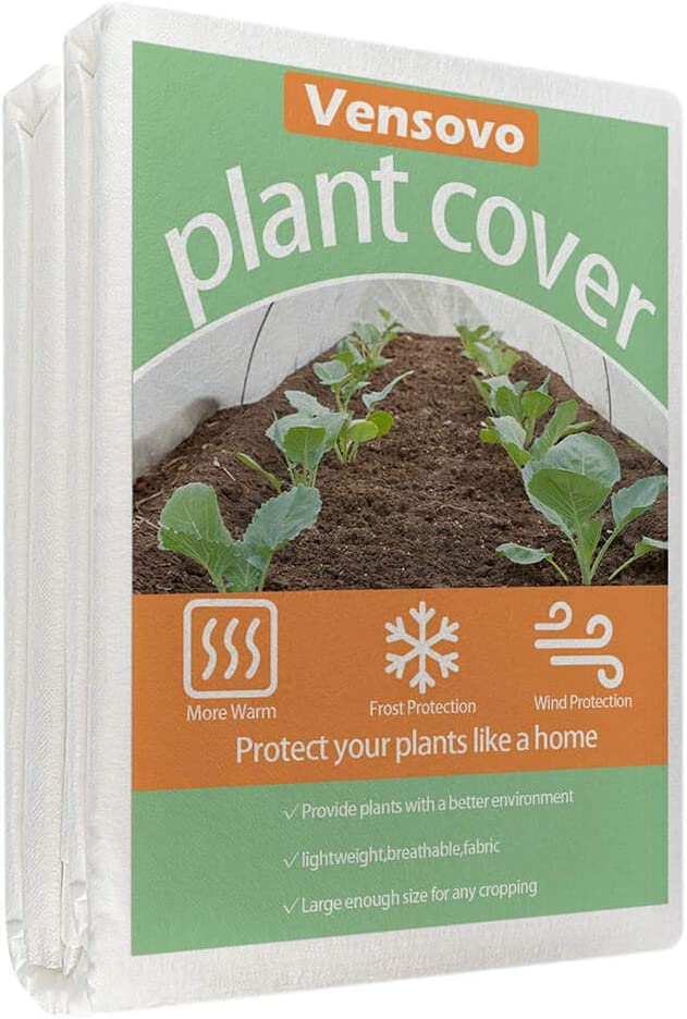 vensovo Plant Covers Freeze Protection Blanket - 10Ft×50Ft 0.74oz Frost Blanket Fabric for Plant Floating Row Cover and Winter Protection