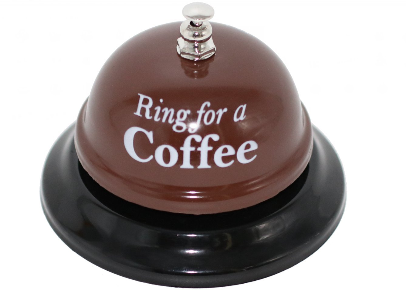 Desk Call Bell Ring for Service Great Fun Creative Novelty Gag Party Gift (Ring for a Coffee)