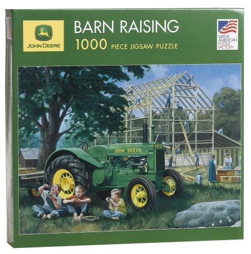 Great American Puzzle FACTORY John Deere Barn Raising 100...