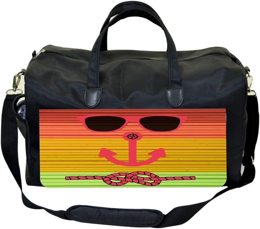 Hipster Beach Face Slats Sports Bag