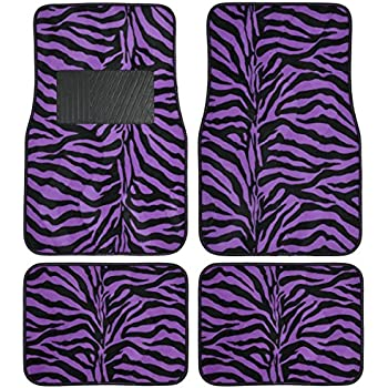 Amazon Com Purple Leopard Animal Print Front Amp Rear