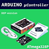 noobtronics Arduino compatible UNO R3 with 3 feet usb cable | DIP ATmega328P