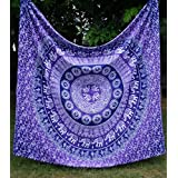 Apoorva's Purple Ombre Mandala Tapestry, Indian Ombre Tapestry, Hippie Tapestries, Wall Tapestries, Hippy Boho Throw, Bohemian Tapestries, Home Decor by apoorva impex