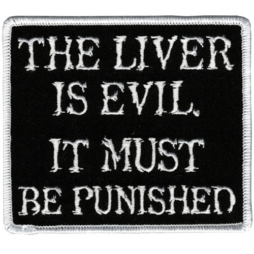 Hot Leathers The Liver Is Evil Patch (4