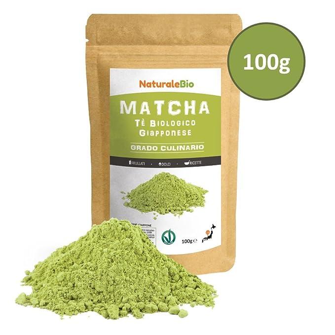Té Verde Matcha Orgánico Japonés En Polvo [ Grado Culinario ] 100 gr | Matcha Biológico para Cocinar | Matcha Ecológico Cultivado En Japón, Uji, ...