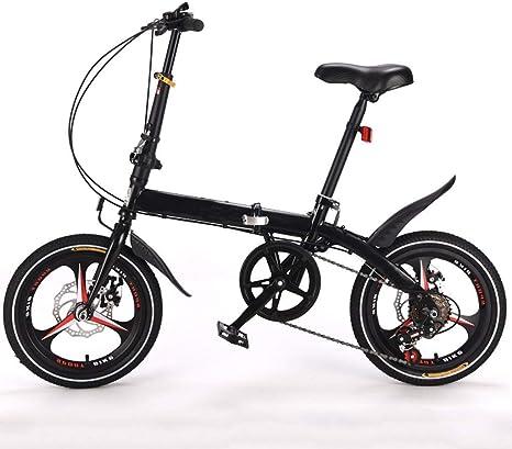 DFKDGL Bicicleta de montaña, Bicicleta Plegable de 16