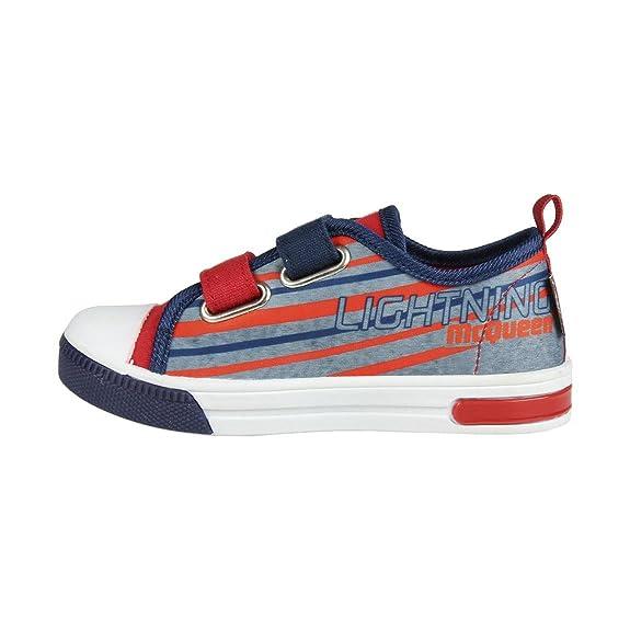 Cars 3 Disney Schuhe - Canvas Sneakers Lightning McQueen Lichter. Rot Farbe + Geschenk (30) hRoP9JU8Y7