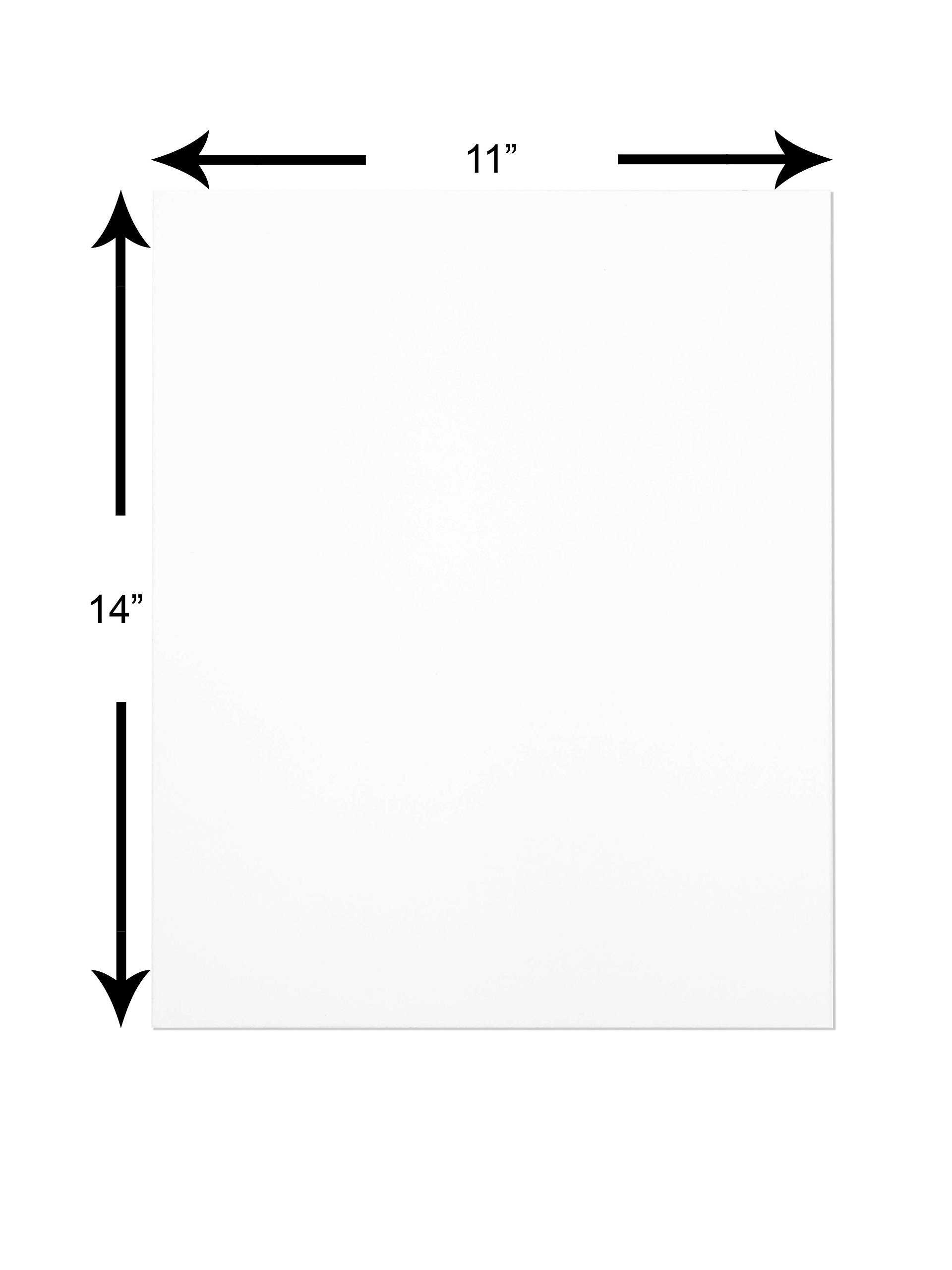 The Display Guys ~ Pack of 25,11''x14'' Deluxe White Both Side Photo Backing Boards by The Display Guys