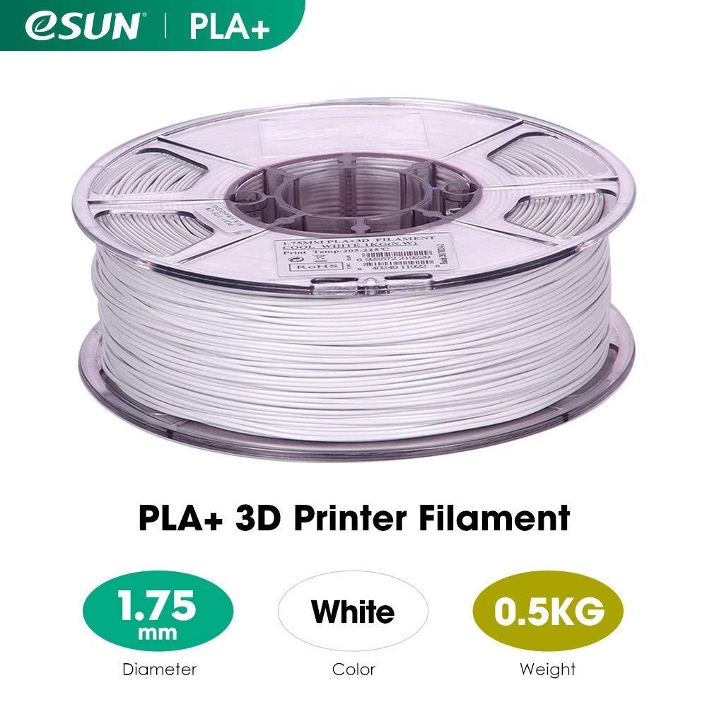 2.2 LBS eSUN PLA+ Filament 1.75mm Dimensional Accuracy +//- 0.03mm 1KG 3D Printer Filament PLA Plus Spool 3D Printing Filament for 3D Printers Black