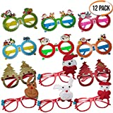 Set of 12 Christmas Novelty Glasses - Ideal for Children Parties, Pinata Fillers