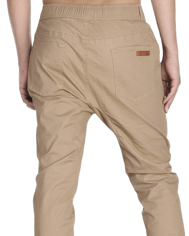 THE AWOKEN Uomo Chino Jogging Casual Pantaloni Sportivi Cotone Slim Fit