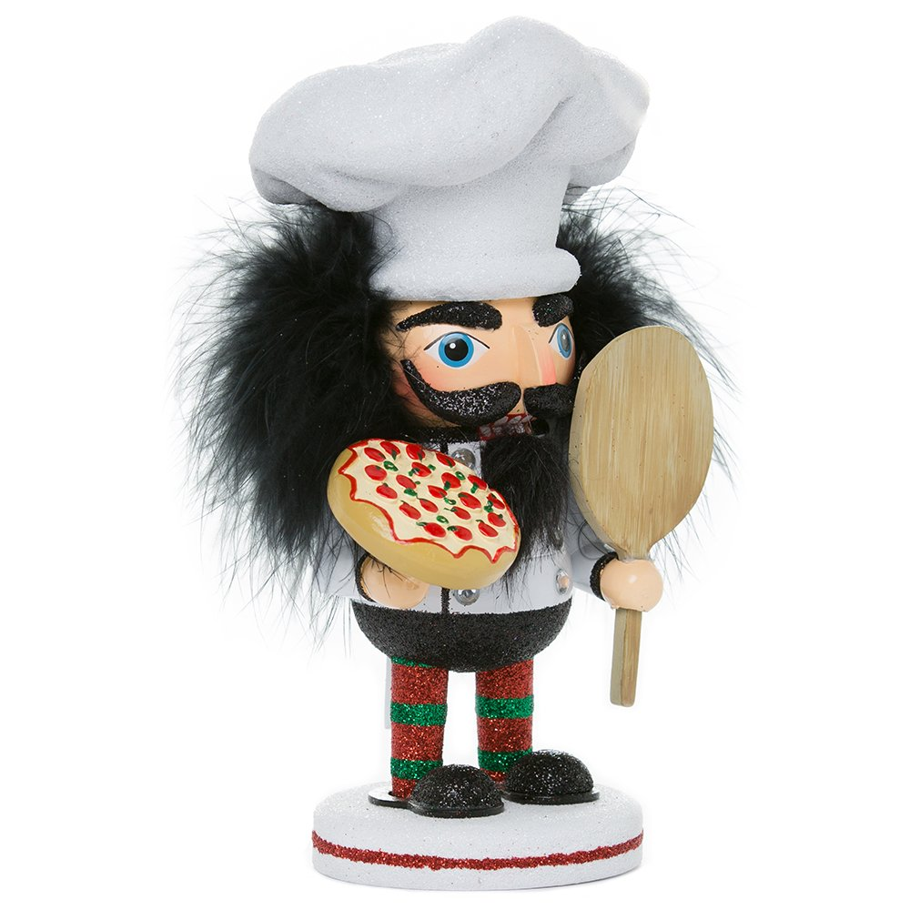 Kurt Adler HA0335 8'' Hollywood Pizza Guy Nutcracker
