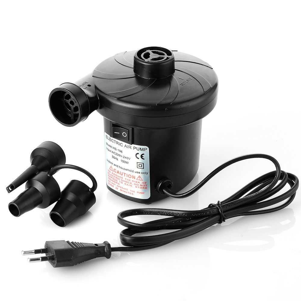 Ociodual Inflador Electrico Hinchador Bomba Aire Mini Compresor Colchon Hinchable Negro Gamefox 80540