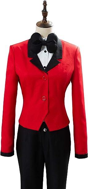 Disfraz de anime para mujer, chaqueta roja, camisa blanca ...