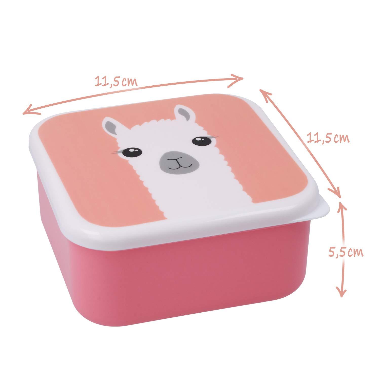 fiambrera colorida para ni/ños con motivos de animales geniales COM-FOUR/® 4x fiambrera para llevar 04 piezas - mezclar