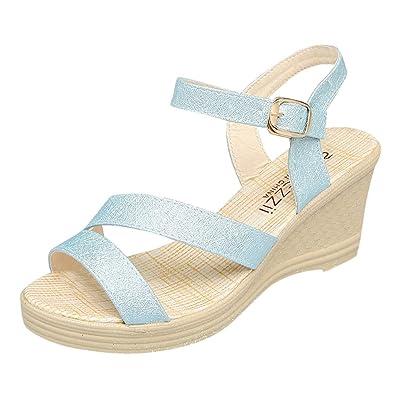 Neu Damen Keilabsatz Sandaletten Römer Sandalen Weiß Gr