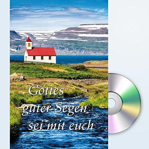 Gottes guter Segen sei mit Euch: Grußkarte mit Mini-CD im Umschlag