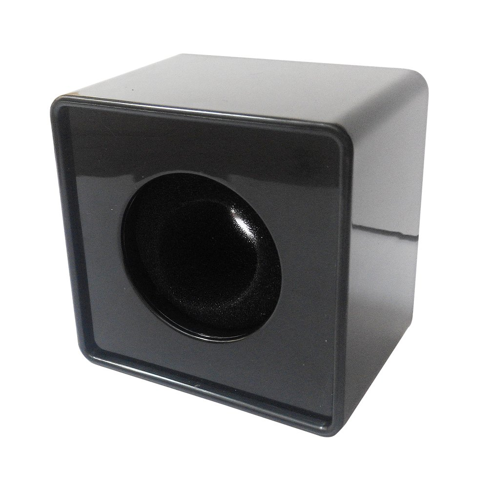 Yaotao Black ABS Mic Square Cube Logo Flag Station 3.6cm Microphone Interview