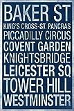 Subway London Blue Poster 12x18