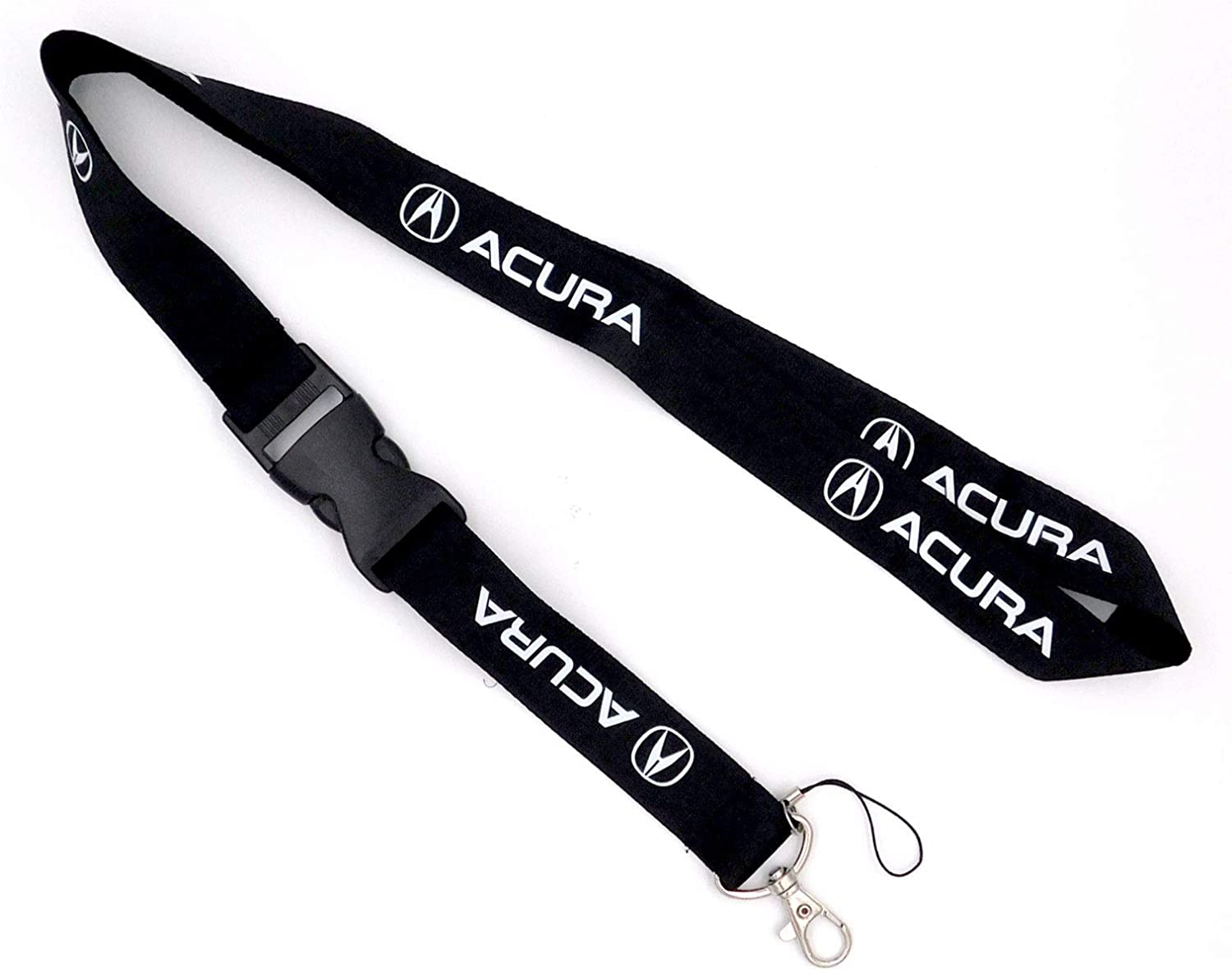 Keychain Key car Logo Chain Black Lanyard Clip with Webbing Strap Quick Release Buckle Acura