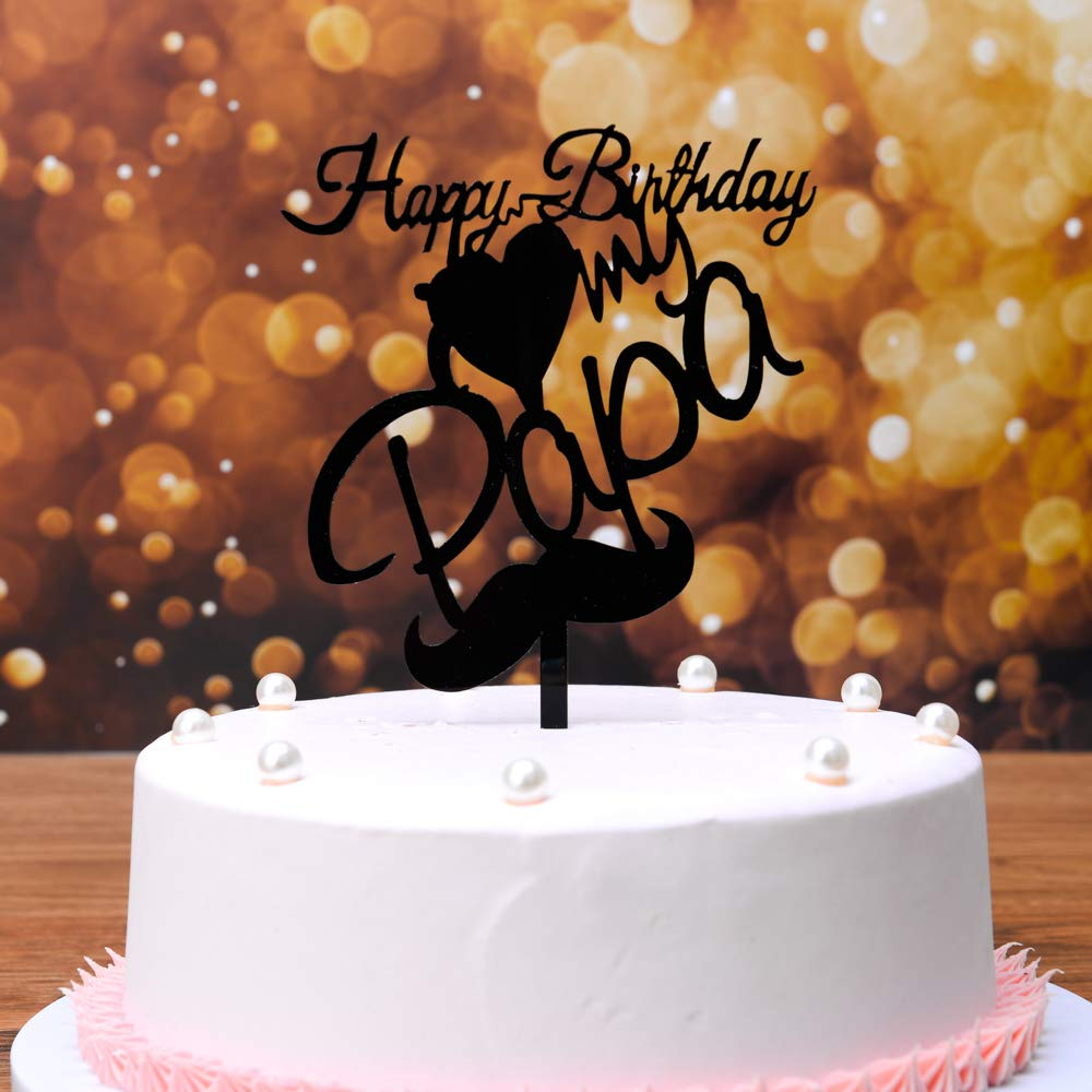 Surprising Happy Fathers Day Cake Topper Fathers Day Decorations Fathers Personalised Birthday Cards Veneteletsinfo