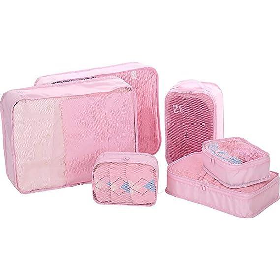 Canyixiu Packing Cubes Set for Travel, 6 Set Packing Cubes Luggage Packing Organizers Travel Essential Bag-in-Bag Travel Luggage Organiz