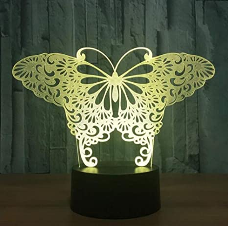 Amazon.com: QiXian Night Light Wall Lamp Led Lamp Butterfly ...