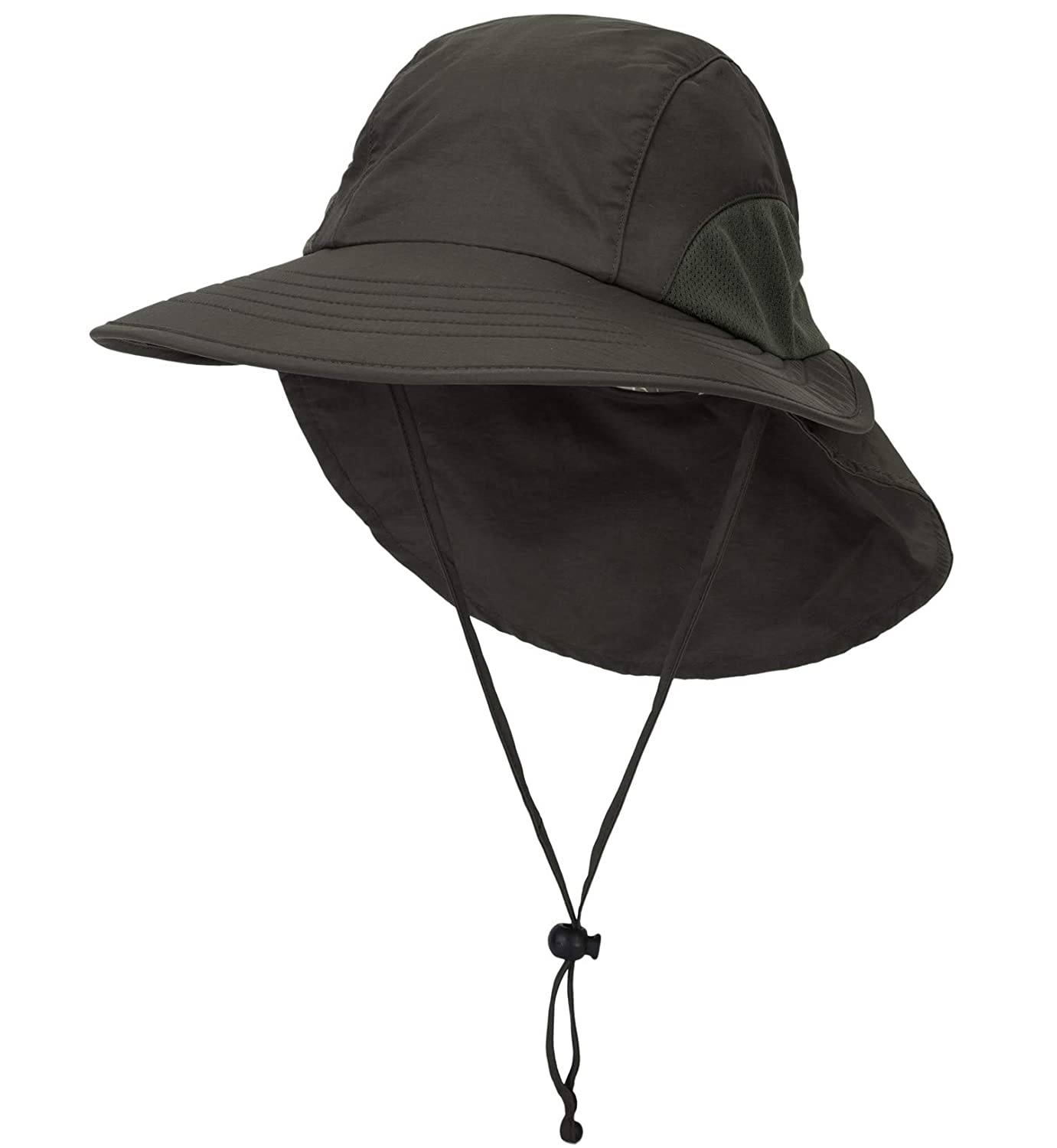 Mesh Sun Hats Connectyle Outdoor Wide Brim Fishing Hat with Neck Flap UPF 50