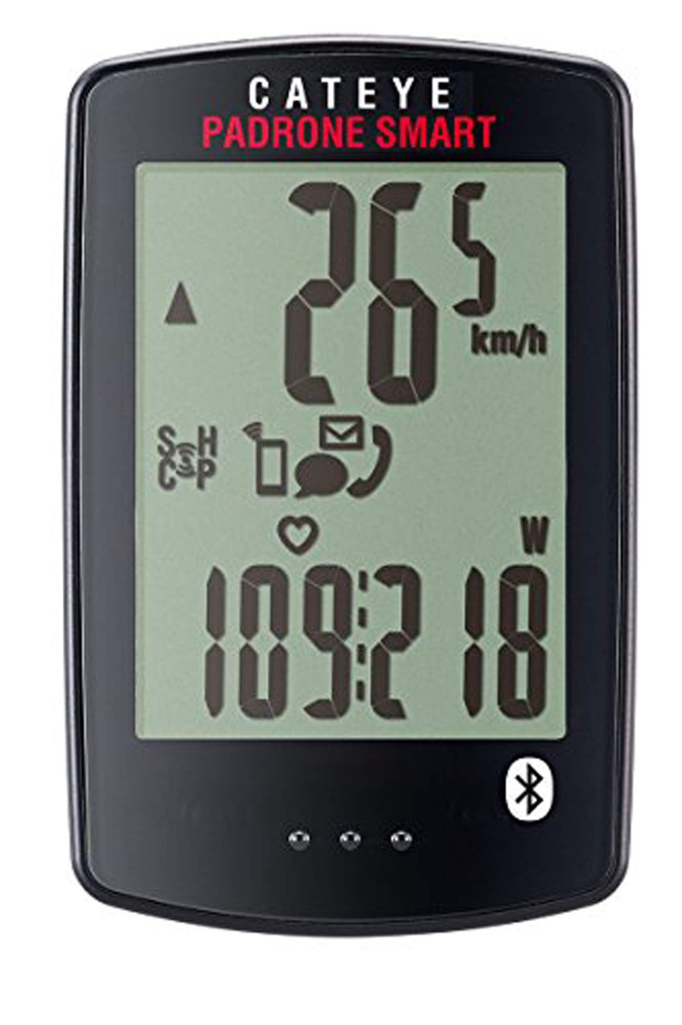 CAT EYE - Padrone Smart Wireless Bike Computer, Triple