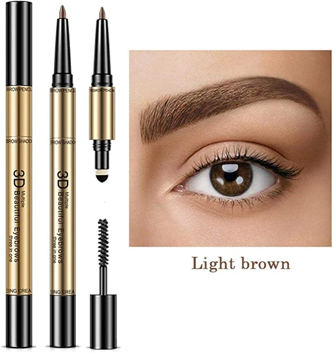 takestop® Pluma lápiz 3in1 Light Brown 3D Marrón Cejas Efecto ...