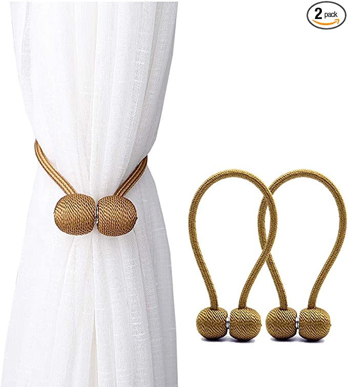 Simple Modern Curtain Holder Rope Braided Tiebacks Tie Backs Satin Voile Strap