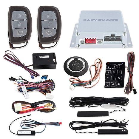 EASYGUARD EC002-HY2-NS - Sistema de Alarma para Coche con Sensor de proximidad