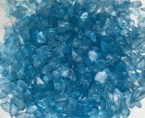 Miniature Fairy Garden Terrarium Blue Glass Gems Crushed Decorative Chips