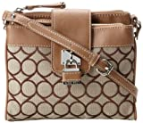 Nine West 9 Jacquard Cross Body,Brown/Khaki,One Size