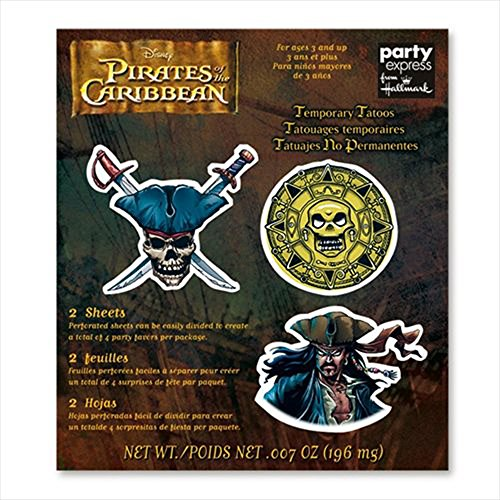 Pirates of the Caribbean Temporary Tattoos (2 sheets)