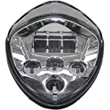 Victory Headlight Motorcycle Headlights Assembly High & Low BeamCross Country Cross Roads 2010-2016 CROSS MODELS CRUISERS Chrome