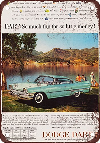1960 Dodge Dart - 1960 Dodge Dart Vintage Look Reproduction Metal Tin Sign 12X18 Inches