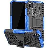 """Capa Capinha Anti Impacto Para Xiaomi Redmi 7a Tela 5.45"""" Case Armadura Hybrid Reforçada Com Desenho De Pneu - Danet (Azul)"""