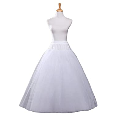 Aprildress A Line Hoopless Petticoat Crinoline Underskirt Slips For Bridal  Wedding Dress